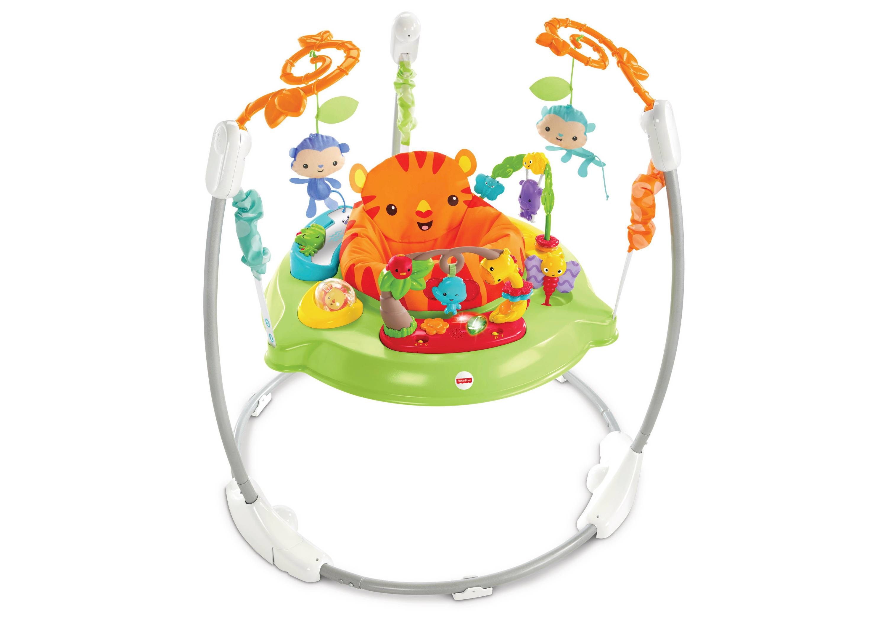 c86afa801 Fisher Price Rainforest Jumperoo Baby Bouncer Entertainer